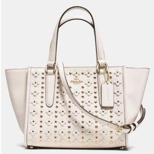 COACH FLORAL RIVETS MINI CROSBY SATCHEL NWT